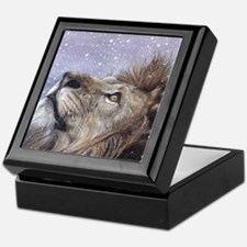 xmas_lion_HUGE Keepsake Box