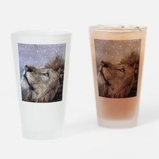 xmas_lion_HUGE Drinking Glass