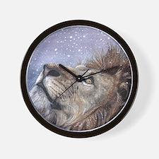xmas_lion_HUGE Wall Clock