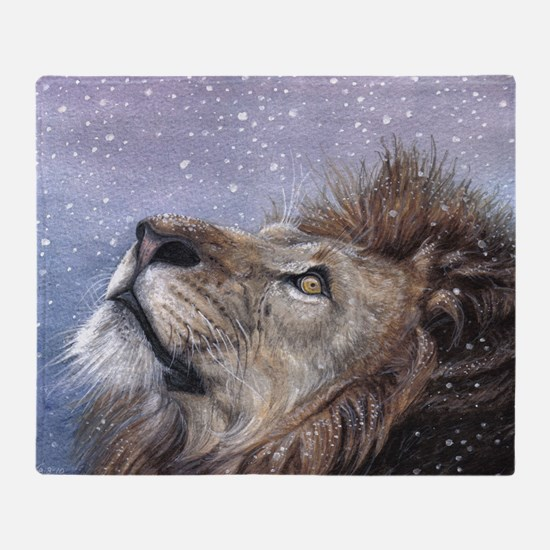 xmas_lion_HUGE Throw Blanket