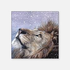 "xmas_lion_HUGE Square Sticker 3"" x 3"""