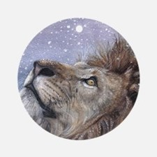 xmas_lion_HUGE Round Ornament