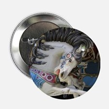 "Carousel Horse 2.25"" Button"