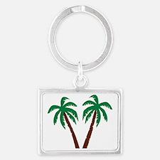 palm_wo_isle Landscape Keychain