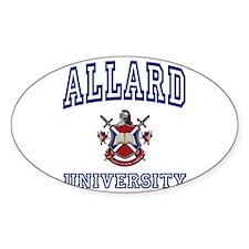 ALLARD University Oval Decal