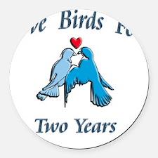 love birds 2 Round Car Magnet