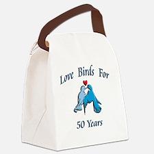 love birds 50 Canvas Lunch Bag
