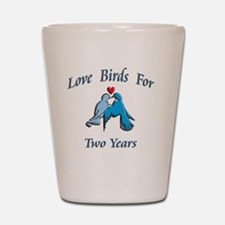 love birds 2 Shot Glass