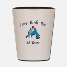 love birds 45 Shot Glass