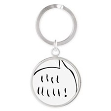 woodstock_bubble Round Keychain