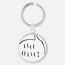 woodstock_bubble Round Keychain