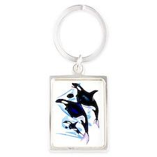 Orca Family Trans Portrait Keychain