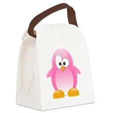 my penguin pink Canvas Lunch Bag