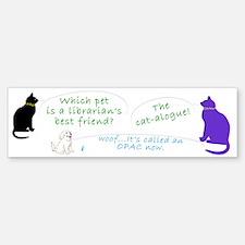 Librarian Cat-toon Bumper Stickers