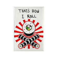 2-howirollsushi Rectangle Magnet