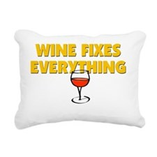 WINE FIXES EVERYTHING Rectangular Canvas Pillow