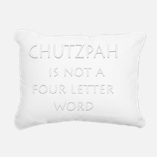 chutzpah4dark Rectangular Canvas Pillow