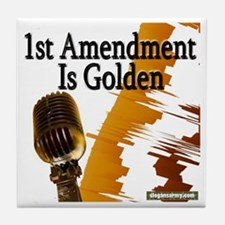 1st amendment tshirt copy Tile Coaster