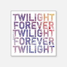 "twilight forever watercolor Square Sticker 3"" x 3"""