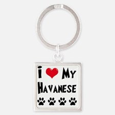 I-Love-My-Havanese Square Keychain