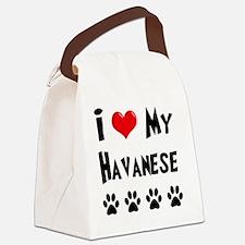 I-Love-My-Havanese Canvas Lunch Bag