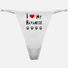 I-Love-My-Havanese Classic Thong