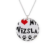 I-Love-My-Vizsla Necklace Circle Charm