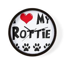 I-Love-My-Rottie Wall Clock