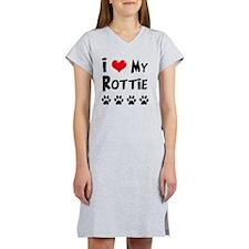 I-Love-My-Rottie Women's Nightshirt