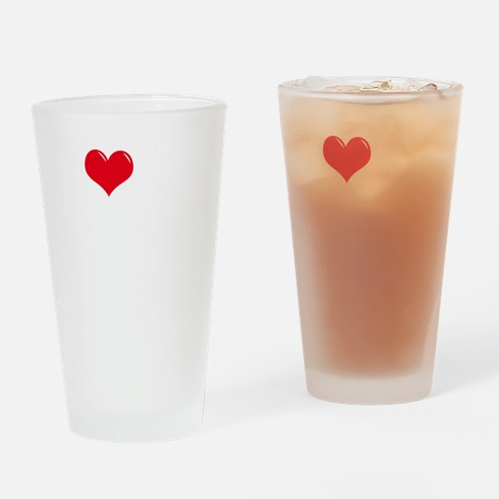 I-Love-My-Rottie-dark Drinking Glass