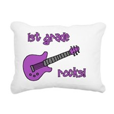 1stgraderocks_purple Rectangular Canvas Pillow