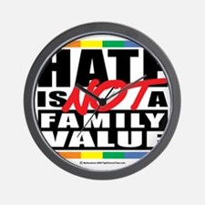 Hate-Family-Value Wall Clock