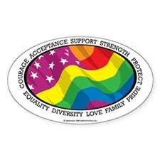 LGBT-Flag Decal