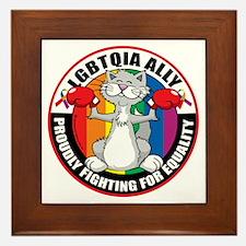 LGBTQIA-Ally-Cat Framed Tile