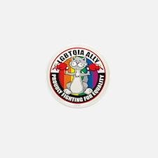 LGBTQIA-Ally-Cat Mini Button