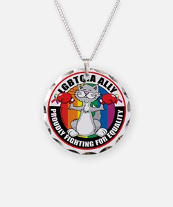 LGBTQIA-Ally-Cat Necklace