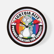 LGBTQIA-Ally-Cat Wall Clock