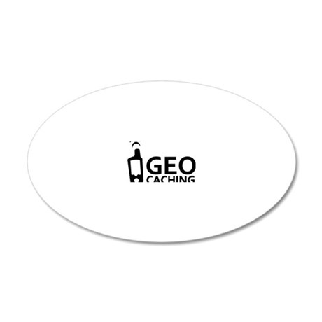 geocaching_word_gps 20x12 Oval Wall Decal