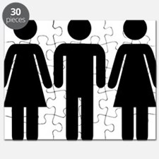couple_woman_man_woman Puzzle