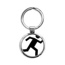 on_the_run Round Keychain