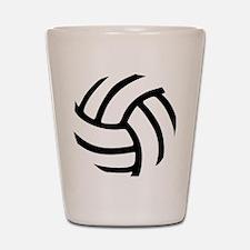 volleyball_birdview2 Shot Glass