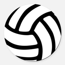 volleyball_birdview2 Round Car Magnet