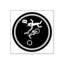 "bmx-circle-Rb Square Sticker 3"" x 3"""