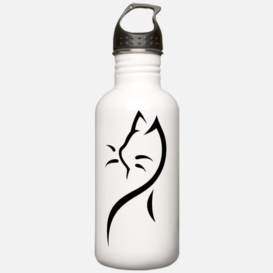Tribal Cat B Water Bottle