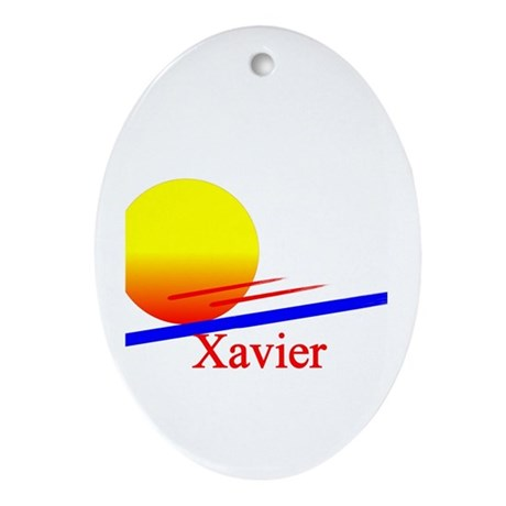 Xavier Oval Ornament