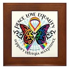 LGBTQIA-Butterfly-Tribal Framed Tile