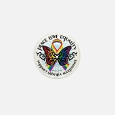 LGBTQIA-Butterfly-Tribal Mini Button