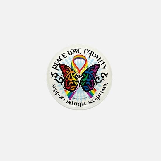 LGBTQIA-Butterfly-Tribal Mini Button