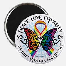 LGBTQIA-Butterfly-Tribal Magnet