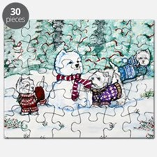 Christmas Card NEW 4.5 5.75 Puzzle